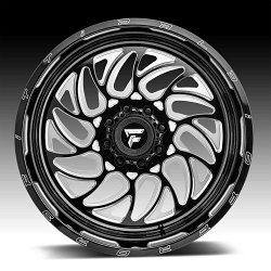 Fittipaldi Offroad Forged FTF09 Gloss Black Milled Custom Wheels Rims 2