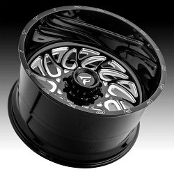 Fittipaldi Offroad Forged FTF09 Gloss Black Milled Custom Wheels Rims 3