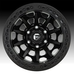 Fuel Covert Beadlock D114 Satin Black Custom Wheels Rims 3