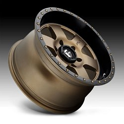 Fuel Podium D617 Bronze Black Custom Wheels Rims 2