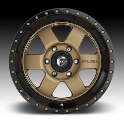 Fuel Podium D617 Bronze Black Custom Wheels Rims 3