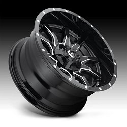 Fuel Vandal D627 Gloss Black Milled Custom Wheels Rims 2