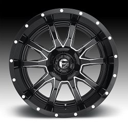 Fuel Vandal D627 Gloss Black Milled Custom Wheels Rims 3