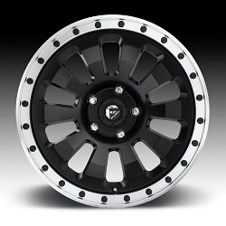 Fuel Tactic D629 Matte Black Machined Custom Wheels Rims 3