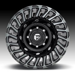 Fuel Cyclone D683 Matte Black Machined DT Custom Wheels Rims 2