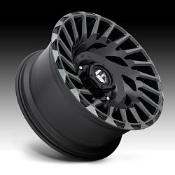 Fuel Cyclone D683 Matte Black Machined DT Custom Wheels Rims 3