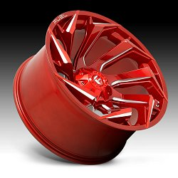 Fuel Reaction D754 Candy Red Milled Custom Truck Wheels Rims 3