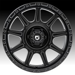 Gear Offroad 759SB Sector T Satin Black Custom Wheels Rims 2