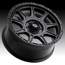 Gear Offroad 759SB Sector T Satin Black Custom Wheels Rims 3