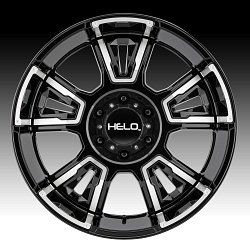 Helo HE914 Gloss Black Machined Custom Wheels Rims 2