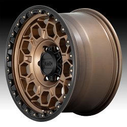 KMC KM545 Trek Matte Bronze Custom Wheels Rims 2