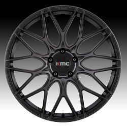 KMC KM713 Alkaline Phantom Black Custom Wheels Rims 2