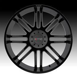 KMC KM714 Regulator Gloss Black Custom Wheels Rims 2