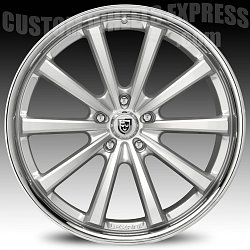 Lexani CVX-55 Silver Machined w/ Stainless Steel Chrome Lip Custom Wheels Rims 2