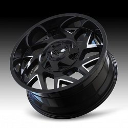 Mayhem Hatchet 8106 Gloss Black Milled Custom Wheels Rims 3