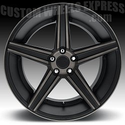 Niche M126 Apex Matte Black Machined with Dark Tinted Clearcoat Custom Wheels Rims 3