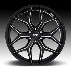 Niche Vice SUV M232 Gloss Black Milled Custom Wheels Rims 3