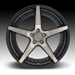Niche Track M322 Le Mans Machined Black DDT Custom Wheels Rims 3