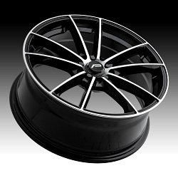 Pacer 792MB Infinity Machined Black Custom Wheels Rims 3