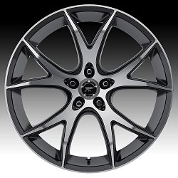 Platinum 419U Recluse Machined with Gloss Black Custom Wheels Rims 2