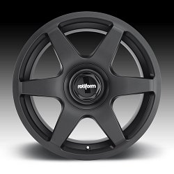 Rotiform SIX R113 Matte Black Custom Wheels Rims 3