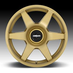 Rotiform SIX R118 Matte Gold Custom Wheels Rims 3