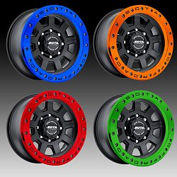 SOTA Offroad Pro Series S.S.D. Stealth Black Custom Truck Wheels Rims 3