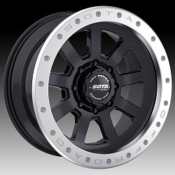 SOTA Offroad Pro Series S.S.D. Stealth Black Custom Truck Wheels Rims 2