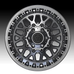 TIS Wheels 555A Satin Anthracite Custom Truck Wheels 2