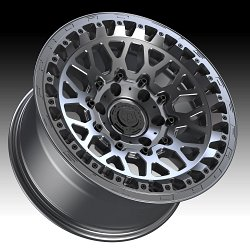 TIS Wheels 555A Satin Anthracite Custom Truck Wheels 3