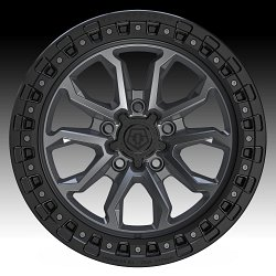 TIS Wheels 556AB (5-Lug) Satin Anthracite Custom Truck Wheels 2