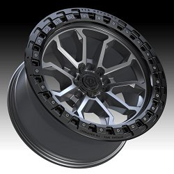 TIS Wheels 556AB (5-Lug) Satin Anthracite Custom Truck Wheels 3