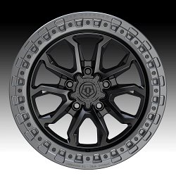 TIS Wheels 556BA (5-Lug) Satin Black Custom Truck Wheels 2