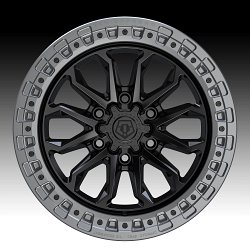TIS Wheels 556BA (6-Lug) Satin Black Custom Truck Wheels 2