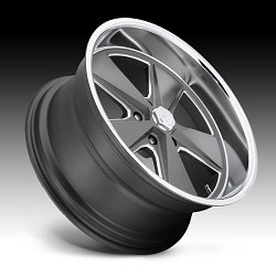 US Mags Roadster U120 Gray Machined Custom Wheels Rims 2