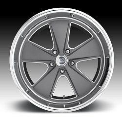 US Mags Roadster U120 Gray Machined Custom Wheels Rims 3