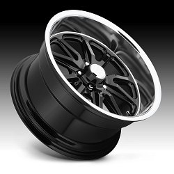 US Mags Rambler U121 Black Machined Custom Wheels Rims 2