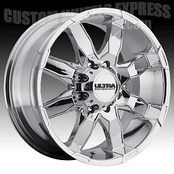 Ultra 225 Phantom Chrome Custom Wheels Rims 2