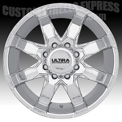 Ultra 225 Phantom Chrome Custom Wheels Rims 3