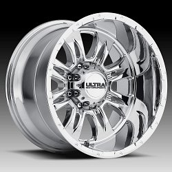 Ultra 249 Predator II Chrome PVD Custom Wheels Rims 3
