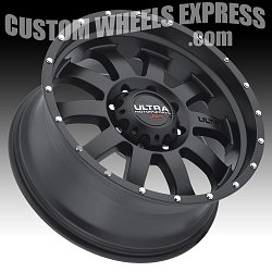 Ultra X105 Xtreme II Satin Black Custom Wheels 2