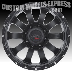 Ultra X105 Xtreme II Satin Black Custom Wheels 3