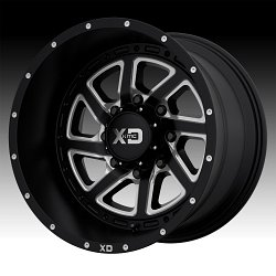 KMC XD Series XD833 Recoil Satin Black Milled Custom Wheels Rims 3