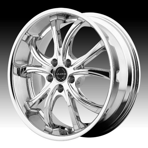 Asanti Black Label ABL-8 Chrome Custom Wheels Rims 1