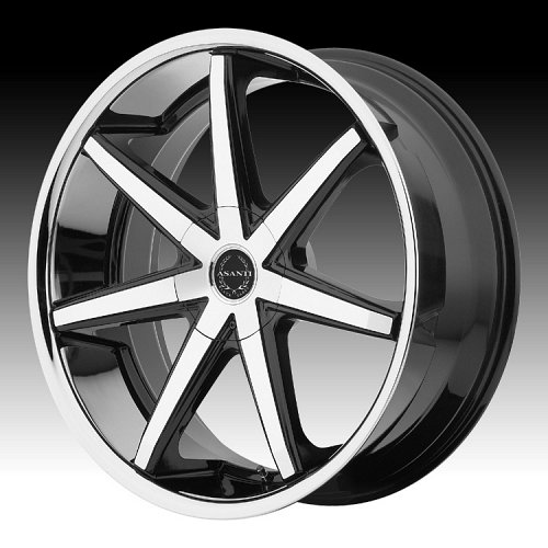 Asanti Black Label ABL-9 Machined Black Chrome Lip Custom Wheels Rims 1