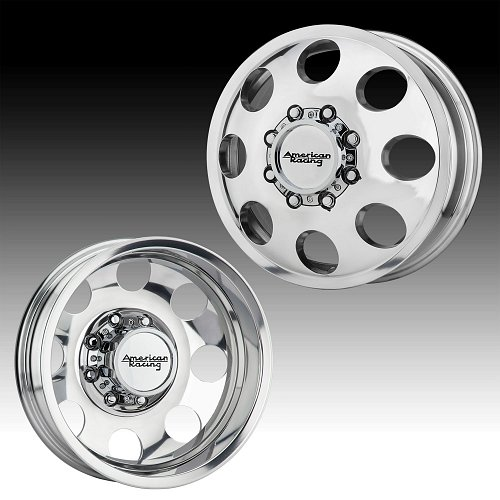 American Racing AR204 Baja Dually Polished Custom Wheels Rims 1