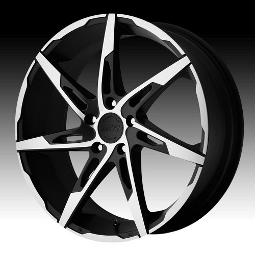 American Racing AR900 Satin Black Machined Custom Rims Wheels 1
