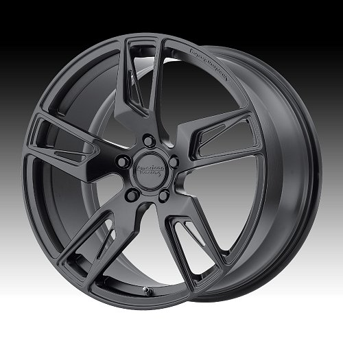 American Racing VF100 Scalpel Black Forged Custom Wheels 1