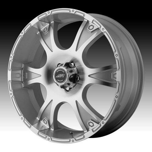 American Racing Dagger AR889 889 Machined Face w/ Silver Custom Rims Wheels 1