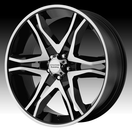 American Racing Mainline AR893 893 Gloss Black Machined Face Custom Rims Wheels 1